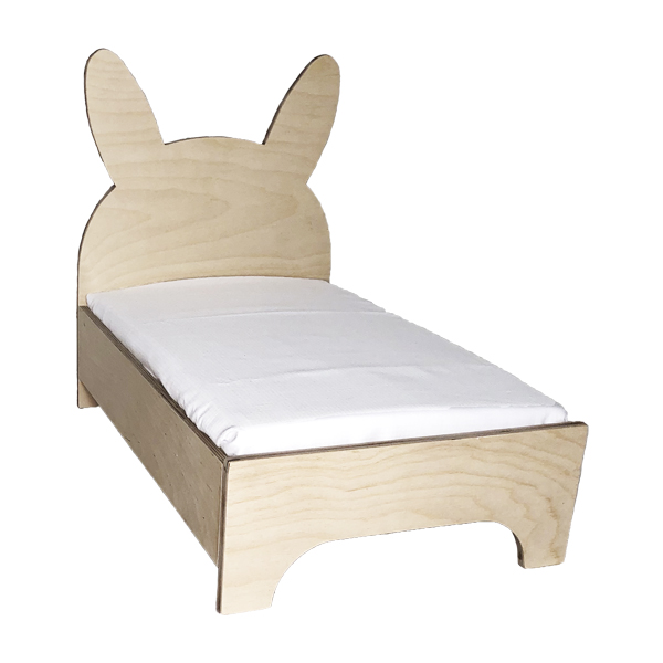 rabbit bed in wood - bed for rabbits