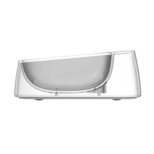 cross-section of feeding bowl with scale for pets