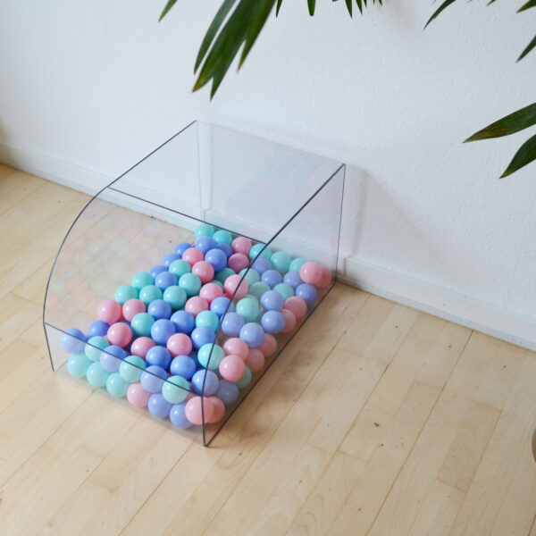 Play pool for rabbits with pastel colours
