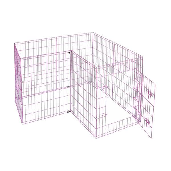 pink fence for rabbit corner
