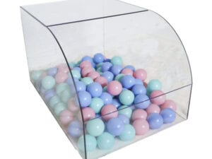 ball pit for rabbits bed pastel colored balls