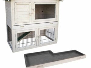 Outdoor rabbit house - with two floors
