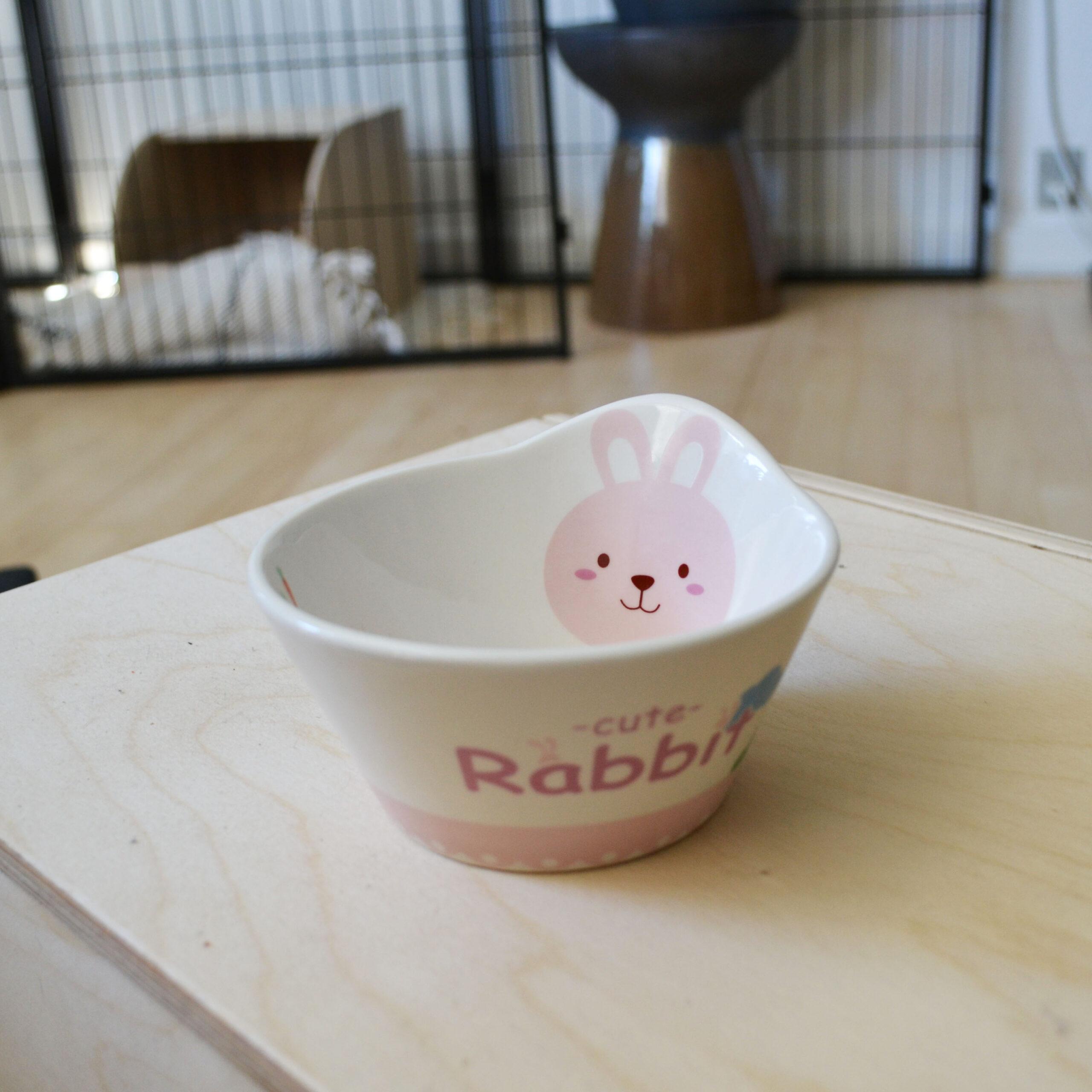 pink rabbit bowl