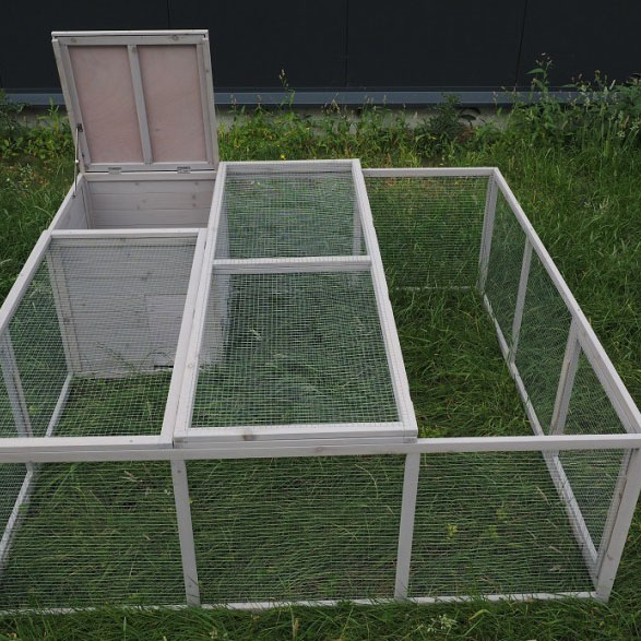 wooden cage for outdoor rabbit