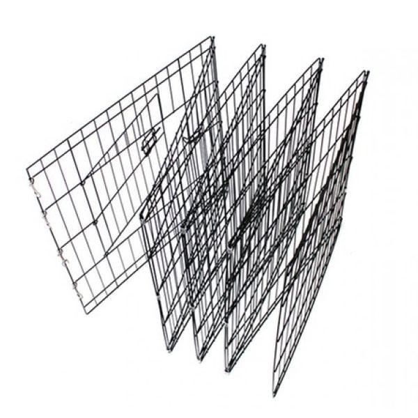 black rabbit cage folded together puppy playpen