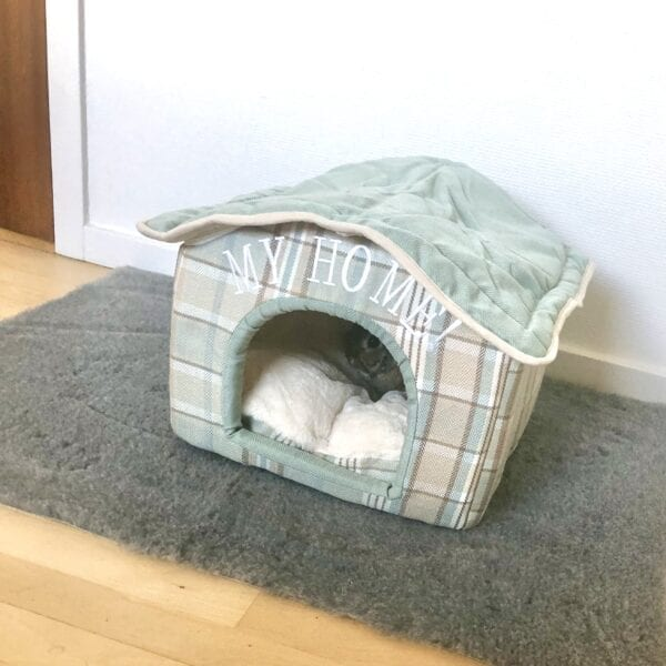 Fabric house for rabbits