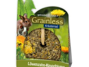 Grainless herbal wheel healthy snack and activation for rabbits
