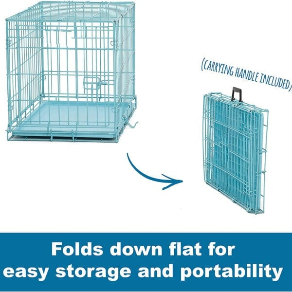blue dog cage, cat cage or rabbit cage for transporting pets