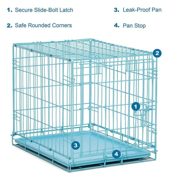 blue cage for the transport of small animals