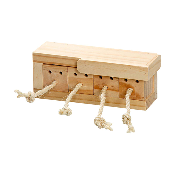 Rabbit toy with drawers for snacks