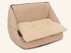 tan pink chair for pets