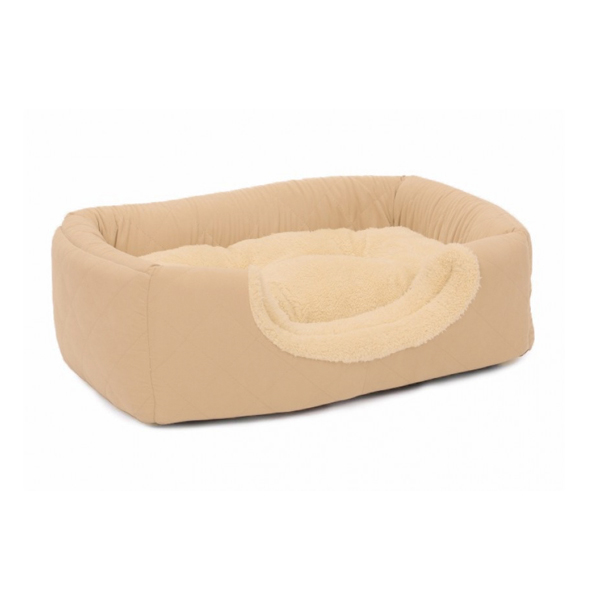 brown basket for rabbits and cats