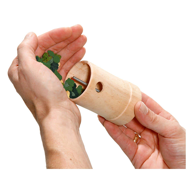 wooden activation roller for rabbits open