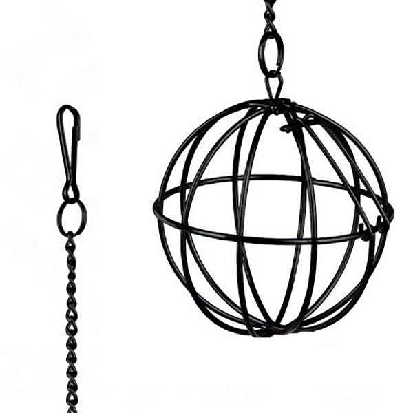 black hay ball for hanging