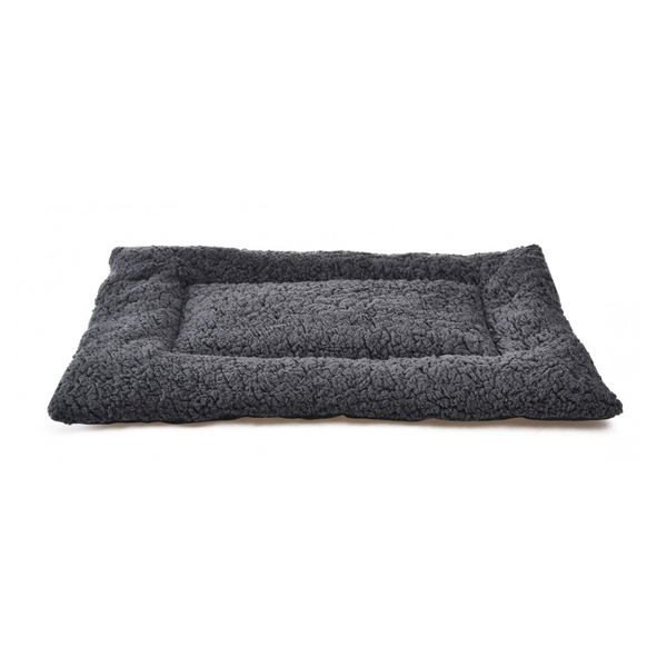 grey plush pillow for rabbits, cats or small dogs