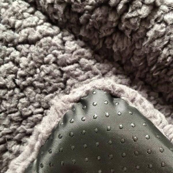 grey pillow for pets from below
