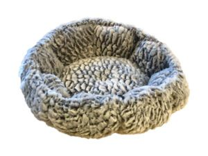gray round pillow for pets super soft
