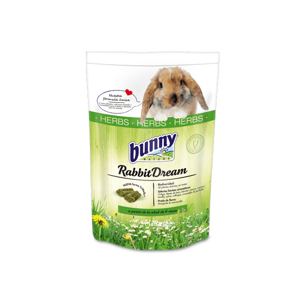 Bunny nature herbs rabbit food without grain for all rabbits. Rabbit food with an extra number of herbs. Feed without corn, wheat or soy for a healthy rabbit.