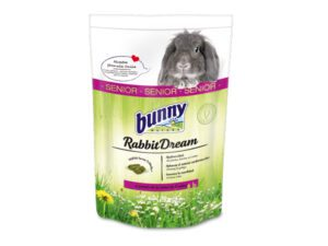 bunny nature senior rabbit food. Bunny pellets for older rabbits over 6 years of age. Rabbit feed with many grass species and green plants. Grain-free rabbit food and soy-free feed.