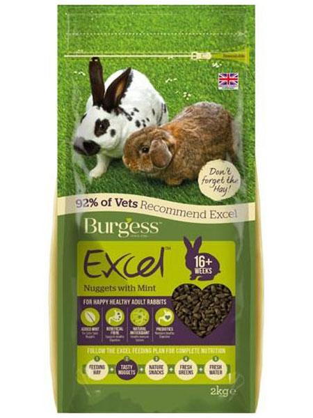 Rabbit food test Burgess rabbit pellets