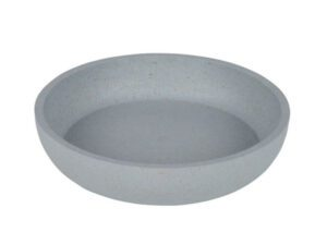 bamboo bowl for rabbits and cats blue gray