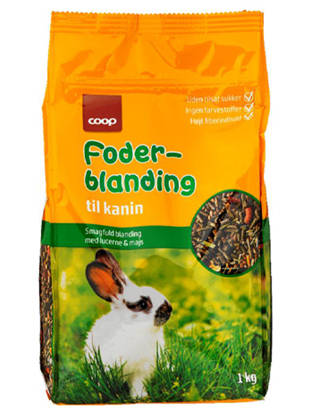 rabbit food test coop compound feed
