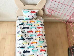 rabbit bed with car bedding