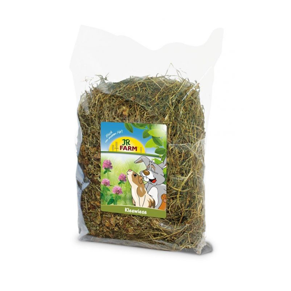 clover hay for rabbits. Mountain meadow hay with many plants and grasses for rabbits. The hay is with added clover