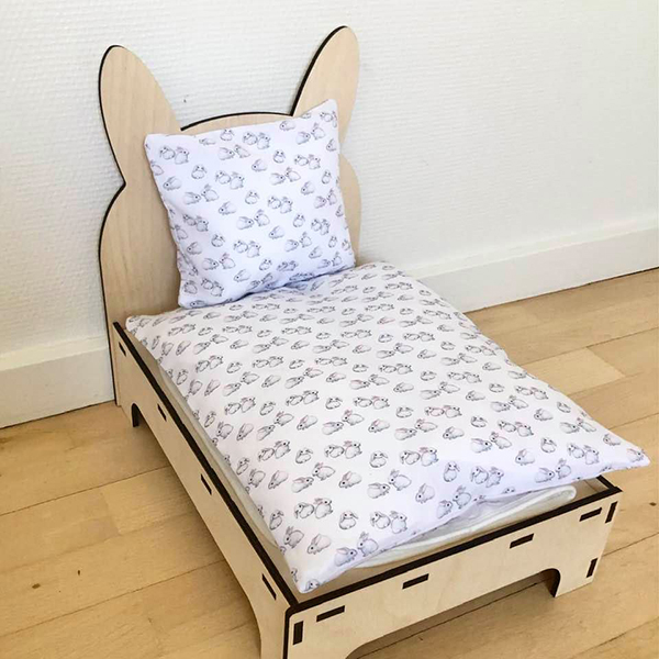 bed for rabbit white