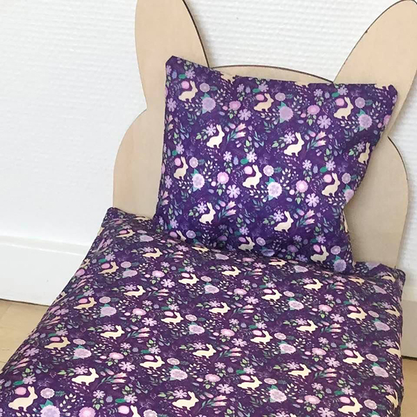 bed for rabbit purple